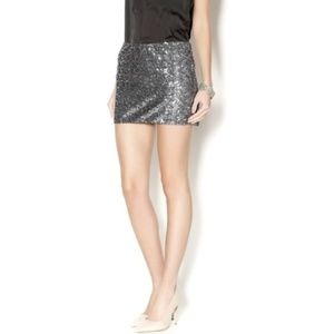 NWT Champagne Silver Sequin miniskirt